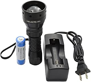 Helotex IR1 Infrared Illuminator Night Hunting Flashlight - for Use with Night Vision Devices (Infrared Light is Invisible to Human Eyes)