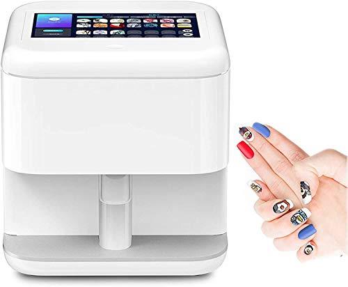 3D Máquina de Impresora de uñas Inteligente de 7 Pulgadas Pantalla táctil Digital Digital Nail Art Patrón de impresión Máquina de manicura Herramienta de manicura Soporte WiFi/DIY/USB Blanco