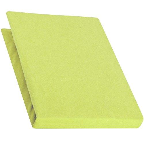 aqua-textiel Pur Topper hoeslaken 120x200-130x200 cm groen boxspringbedden topperlaken katoen