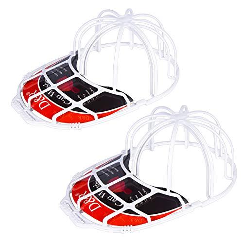 Der Rose 2 Pack Baseball Hat Washer for Washing Machine,Cap Washer Frame Cage,Hat Cleaner Protector Hat Rack for Baseball Caps