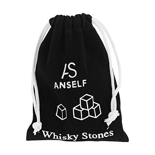 Anself 9er Set Whiskey-Steine aus natürlichem Speckstein - 5