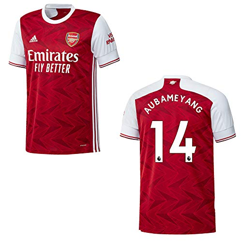 adidas FC Arsenal Trikot Home Herren 2021, Größe:M, Spielerflock (zzgl. 15.00EUR):14 Aubameyang