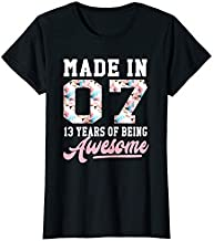 13 Year Old Girl Gifts For 13th Birthday Gift Born In 2007 T-Shirt