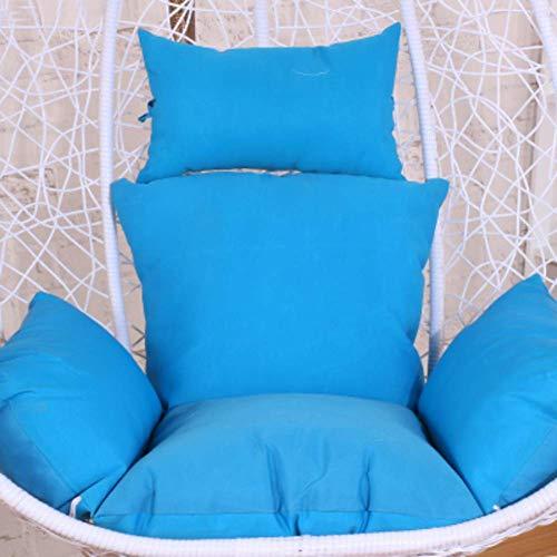 ZXL Egg Chair Stoel Kussen, Swing stoel kussen, Dik nest Comfort Verwijderbare Opknoping ei hangstoel kussens Zonder standaard Met Kussen Courtyard-rood
