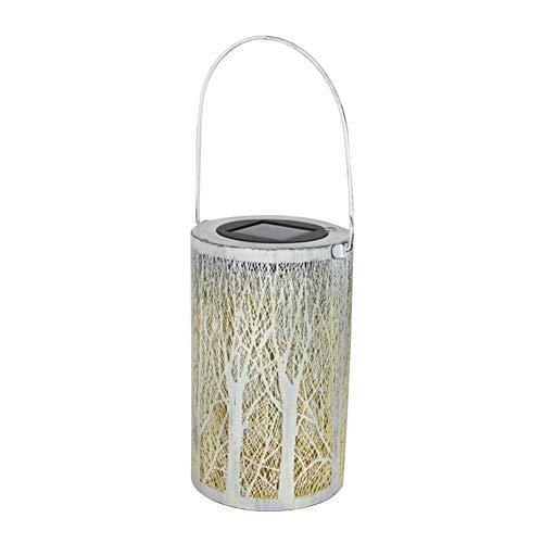 Yokawe Linterna Solar Impermeable Al Aire Libre, Lámpara Cilíndrica para Patio De Jardín, Decoración De Camino De Patio De Jardín 1#