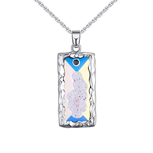 SADFGH Piège à l'amour Créativité Cristal élémentaire Colliers Pendentifs pour Femmes Romantique Fine Jewelry As Gifts,Blue