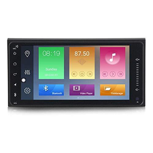 Navegación GPS Android estéreo para automóvil Soporte de pantalla táctil de 7 pulgadas Llamada manos libres SWC Offline / Online GPS Reproductor multimedia Radio Receptor de video para modelos T oyo