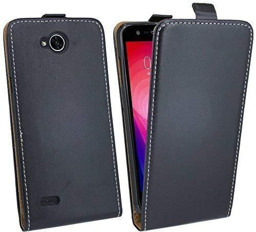 cofi1453 Handytasche Flip Style kompatibel mit LG X Power 2 (M320N) in Schwarz Klapptasche Hülle