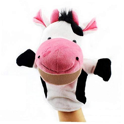Los Animales De Peluche Marionetas De Mano Niñez Niños Lindos Juguetes Blandos De Vaca Forma Story Jugar a Las Muñecas Pretend