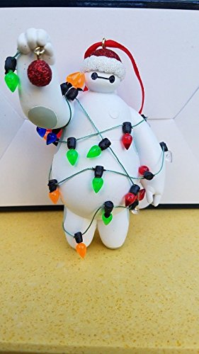 Disney Parks Baymax with Christmas Lights Ornament