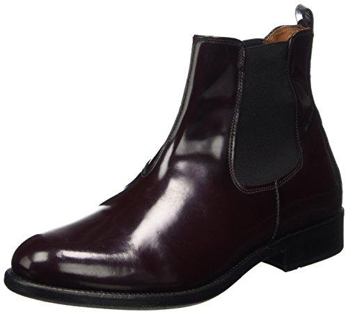 TEN POINTS Damen Diana Chelsea Boots, Rot (Bordeaux), 37 EU