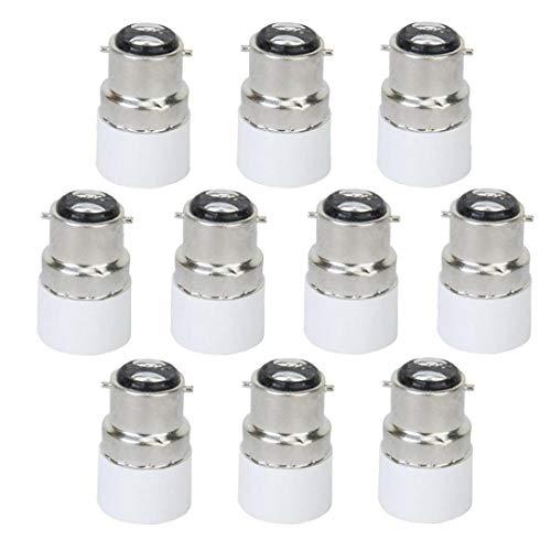 linjunddd 10pcs Glühlampe Adapter B22 Zu E14 Led Schrauben-birnen-lampen-Adapter-Halter-konverter-verbindungsstück B22 Zu E14 Licht Adapter Sockel Base Converter Nützliche Lampe