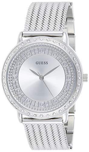 Guess Reloj Analógico para Mujer de Cuarzo con Correa en Acero Inoxidable W0836L2