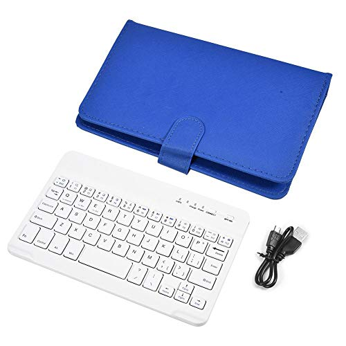 Salaty Estuche para Teclado, Teclado inalámbrico Resistente a los Golpes, hogar Compacto para teléfono(Blue)