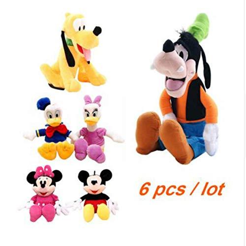 Xin Yao Store Peluche 6Pcs / Mickey Y Minnie Mouse, Donald Duck Y Daisy Duck Pluto Dog, Juguetes De Peluche