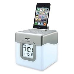 iHome IHM28W2 Color Changing Alarm Clock FM Radio with USB Charging