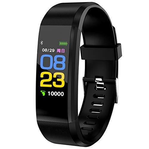 Reloj inteligente de seguimiento de actividad con monitor de presión arterial de frecuencia cardiaca, IP67, resistente al agua, monitor de sueño para hombres y mujeres