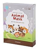 Berrisom Tier Maske Blatt Haut Pflege Kosmetika Gesicht Tiger Panda Waschbär Schaf Katze Hund Affe