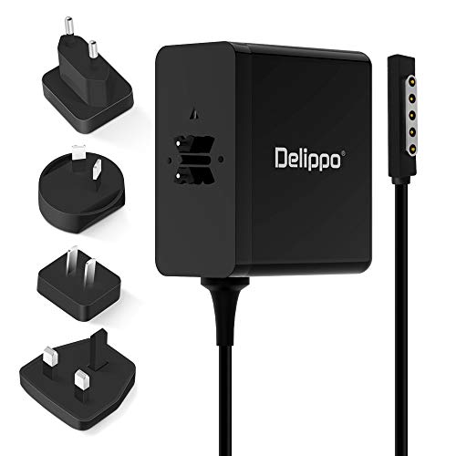 Delippo 12V 3.6A Surface Charger for Microsoft Surface Pro/Pro 2 Surface RT Surface 2 Tablet Ac Adapter 1512 1516 1536 Extra long 6FT Power Cord