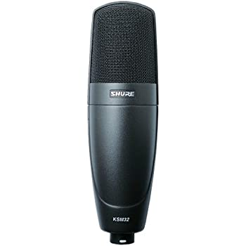 Shure KSM32/CG Embossed Single-Diaphragm Cardioid Condenser Stage Microphone, Charcoal Grey