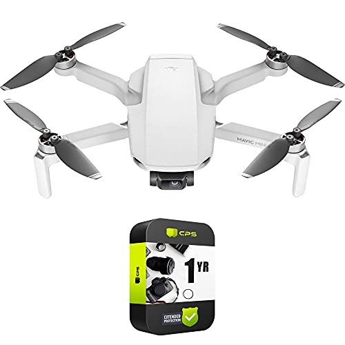 DJI CP.MA.00000120.01 Mavic Mini - The Everyday FlyCam Quadcopter Drone (Renewed) + 1 Year Protection Plan