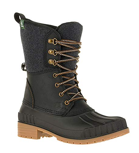 Kamik Women's Sienna2 Waterproof Winter Boot Black 8 Medium US