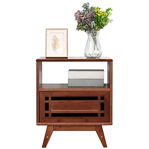 Bureau DD bijzettafel, nachtkastje, massief hout nachtkastje woonkamer bank hoek tafel, snacktafel met lades -werkbank