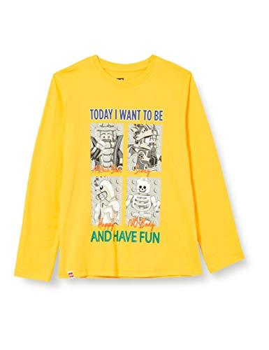 LEGO Jungen MWd - Langarmshirt T-Shirt, 207 Yellow Ny, 134
