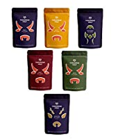 Wholesome Wolf - Set of 6 x 35g pouches 1 x Moorish Beef, 1 x Diablo Beef, 1 x Peri Peri Beef, 1 x Classic Beef, 1 x Classic Pheasant & 1 x Classic Venison High protein, low carb, gourmet snack Sustainably sourced British meat Air-dried with our own ...