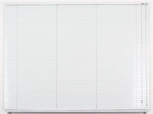 EFIXS Alu-Jalousie - Breiten 40 cm - 230 cm, Höhe bis 220 cm - Hier: 40 x 130 cm - Farbe: Weiss - Bedienseite: rechts - Aluminium-Jalousie