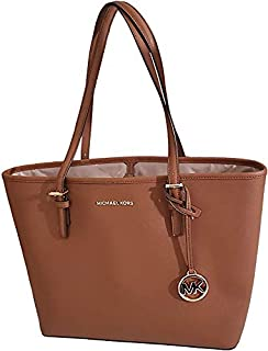 Michael Kors Women's Jet Set Travel Carryall Tote, Flap Leather - Luggage