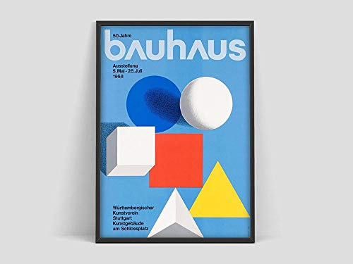 Póster de la Bauhaus, Kunstverrein 1968, póster, póster de impresión de la Bauhaus, pintura de lienzo decorativa sin marco familiar J 70x100cm