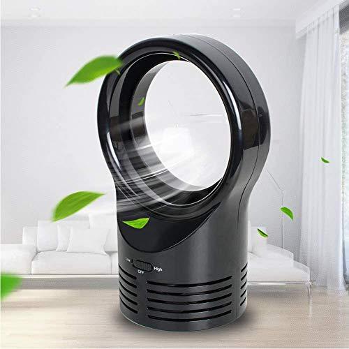 April Story Electric Bladeless Fan Portable Cordless Mini Handheld Fan Handheld Mini Cooler No Leaf Handy Fan,Black