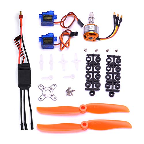 FPVKing RC 2212 2200KV Brushless Motor+SG90 9G Micro Servo+ New 30A ESC Electric Speed Controller+6035 Propeller for RC Fixed Wing Plane Helicopter