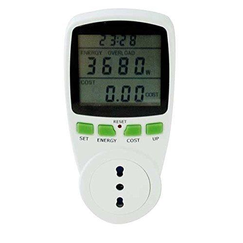 Power Meter LCD 230 V 16A-herramienta de seguimiento del consumo eléctrico de...
