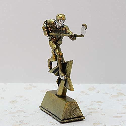 LJXLXY Sport hars retro hockey herdenking trofee milieuvriendelijke hars sculptuur producten thuis woonkamer desktop Decoraties Art Craft