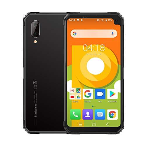 """Blackview BV6100 (2019) móviles, Smartphones Robustos de 6.88"""" Pantalla Smartphones Libres 3GB + 16GB, Android 9.0, IP68 a Prueba de Agua, Batería 5580 mAh, SIM Dual, NFC, GPS Negro"""