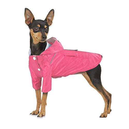 Yowablo Pet Waterproof Raincoat Jacket Reflective Stripes Für große und mittlere Hunde (S,Rosa)