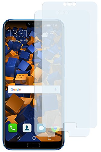 mumbi Schutzfolie kompatibel mit Huawei Honor 10 Folie klar, Bildschirmschutzfolie (2X)