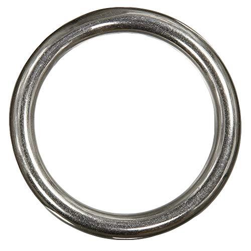 15 Stück Ring 4 x 40 mm geschweißt, poliert - Edelstahl A4