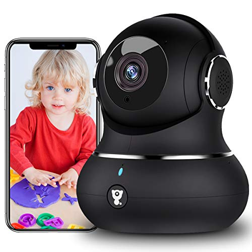 Littlelf Indoor WiFi Camera, Dog Camera,1080P Pan/Tilt Home Security Camera...