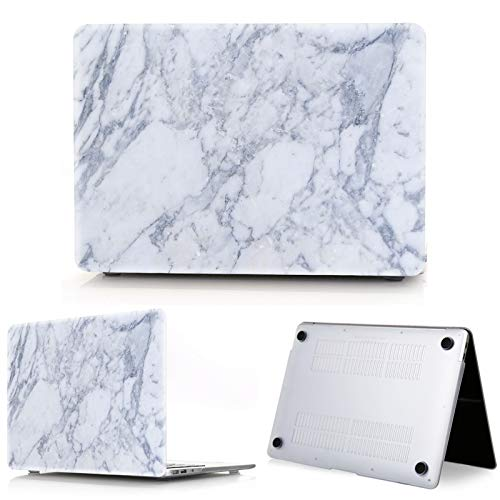 New Marble Laptop Case for Macbook Touch ID Air 13 case A1932 Pro 12 16 15 11 inch shell For Macbook Pro 13 case +Keyboard Cover-blue-2019 Air 13 A1932