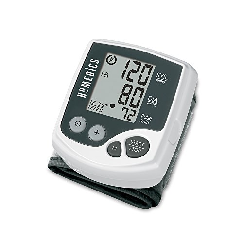 HoMedics Automatic Wrist Blood Pressure Monitor | 2 Users, 120 Stored Readings, Memory Average...