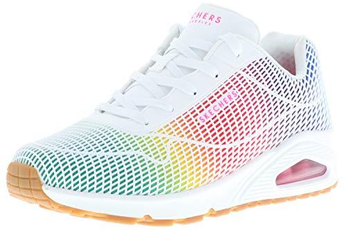 Skechers 155131/WMLT UNO-Eye Catching - Zapatillas deportivas para mujer, color blanco y multicolor, color Multicolor, talla 41 EU
