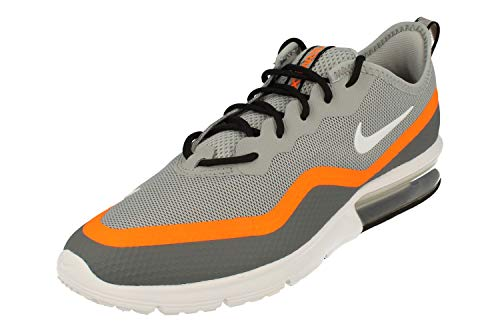 Nike Air MAX Sequent 4.5, Zapatillas de Trail Running Hombre, Negro (Wolf Grey/White/Cool Grey/Total Orange 4), 42 EU