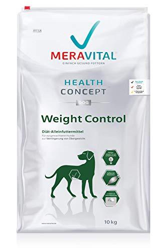 MERAVITAL Weight Control Hundefutter trocken 10 kg für Hunde fördert Fettverbrennung für gesundes und schmackhaftes Abnehmen bei Übergewicht