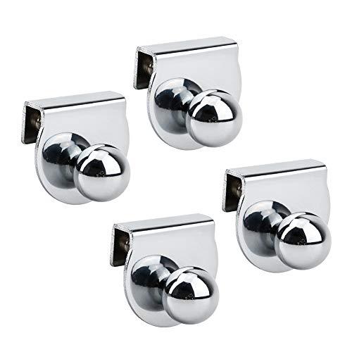 INCREWAY Tirador de puerta de cristal, 4 piezas de metal sin perforación, abrazaderas para puertas de cristal de 5 a 8 mm