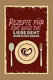 Premium Kochbuch zum selbst schreiben - Rezepte für eine lange Ehe, Liebe geht durch den Magen - Mit Vorlagen zum selber gestalten und ausfüllen. DIY ... Freund, Freundin. A5 - ca. 128 Seiten.