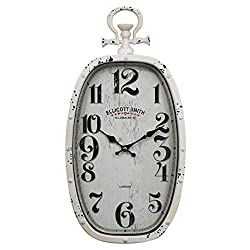 AYJS European-Style Oval Pocket Watch Wall Clock, Silent Clock for Living Room and Bedroom, Hotel Restaurant Wall Watch, Creative Decoration Wall Clock,Floating Material, Anti-Fog and Transparent