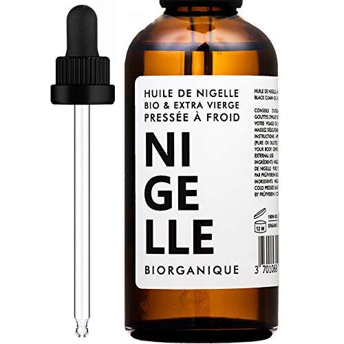 Huile de Nigelle 100% Bio, Pure et Naturelle - 100 ml - Soin pour Cheveux, Cuir chevelu,...